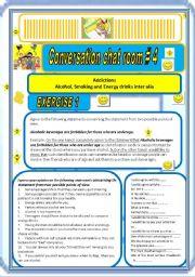 English Worksheet: Chat Room # 4