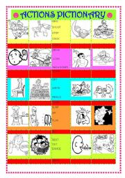 English Worksheets: ACTIONS  ( 40 PICTURES )