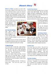 English Worksheets: Princess Diana