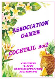 English Worksheet: association games cocktail no.2