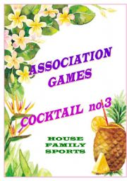 English Worksheet: association games cocktail no.3