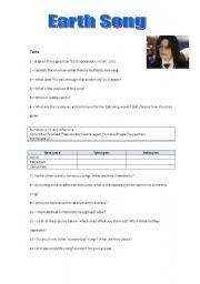 Worksheets Song Analysis Worksheet earth song analysis part ii