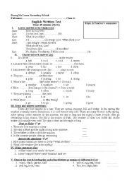 Worksheets Grade 6 English Worksheets worksheet test english grade 6 6