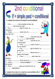 English Worksheets: second conditional + key (8.05.10)