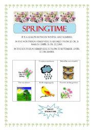 English Worksheets: SPRINGTIME