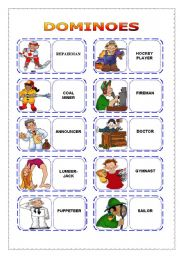 English Worksheet: OCCUPATIONS - dominoes (part 2)