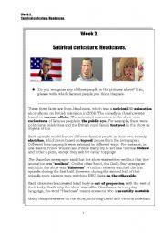 English Worksheets: Caricature: Headcases