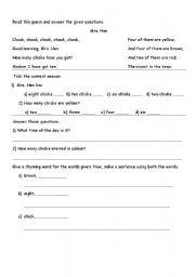 English Worksheets: Reading Comprehension!