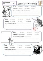 Printables Endangered Animals Worksheets Grade 2 endangered animals worksheets vintagegrn worksheet by aarr