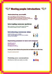 English Worksheet: Meeting People: Introductions.