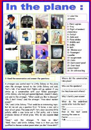 English Worksheets: in the plane