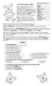 English Worksheets: The Gummy Bear