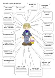 English Worksheets: Basic facts - asnwer little boy�s questions