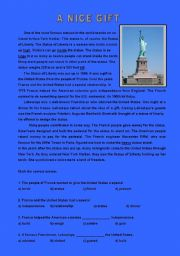 English Worksheets: A nice gift  ( 2 pages )