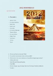 English Worksheets: 2012 MOVIE