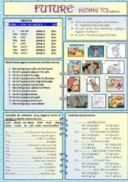 English Worksheets: FUTURE, GOING TO