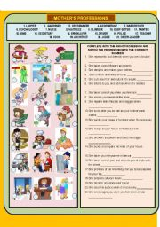 English Worksheet: ALL MOTHER´S PROFESSIONS