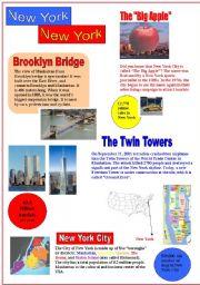 English Worksheet: New York, New York