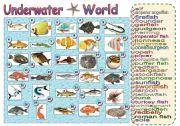 English Worksheets: Underwater World