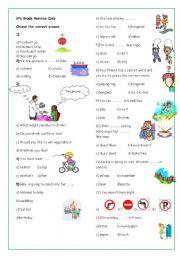 English Worksheet: 6th Grade Revision