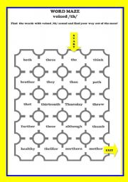PRONUNCIATION word maze voiced