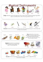 Musical Instruments - worksheet by Manon Jette
