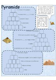 English Worksheets: Word pyramid 1