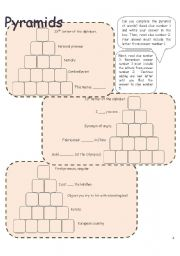 English Worksheets: Pyramids 4