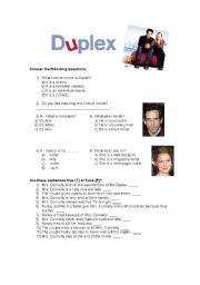 English Worksheets: Duplex (movie activity)