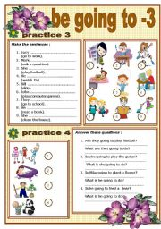 """BE GOING TO"""" FUTURE + EXERCISES - 3 (editable)"""