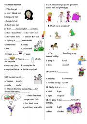 English Worksheet: 6th grade revision-2