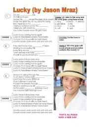 English Worksheet: Lucky, Jason Mraz