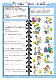 English Worksheet: second conditional (editable, with key)