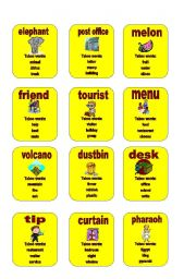 English Worksheet: Taboo - set 1