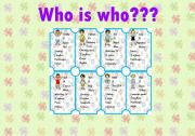 WHO IS WHO??? - game - PART2