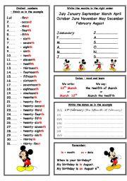 English Worksheet: Ordinal numbers