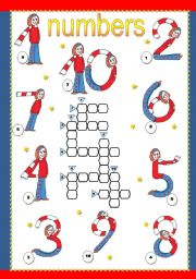 English Worksheet: cardinal numbers from 1 to 10