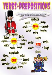 English Worksheets: PREPOSITIONS AFTER VERBS (Part I)