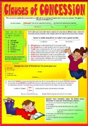 English Worksheet: CLAUSES OF CONCESSION