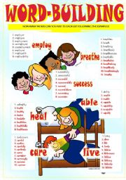 English Worksheets: WORD BUILDING