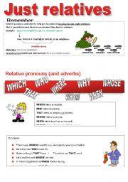English Worksheet: RELATIVES (PART II)