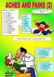 English Worksheet: HEALTH PROBLEMS 2