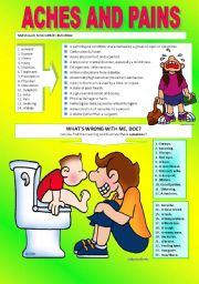 English Worksheets: HEALTH PROBLEMS