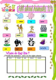 English Worksheets: All about animals 2