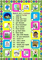 English Worksheets: Daily routines. Editable