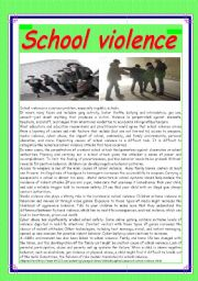 """""""Teen violence is a growing problem in today´s schools"""