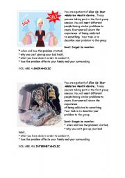 English Worksheet: ADDICTIONS - GROUP ROLE-PLAY