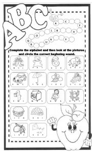 math worksheet : english teaching worksheets the alphabet : Teaching Worksheets For Kindergarten