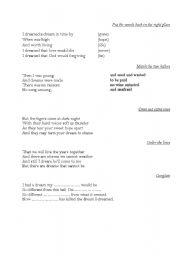 English worksheet: I Dreamed a Dream