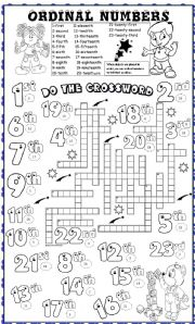 ordinal numbers - ESL worksheet by angelamoreyra